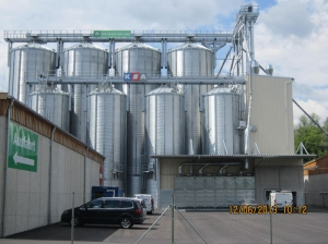 Warehouse Roggendorf – Construction of a grain storage system with 10 cells
